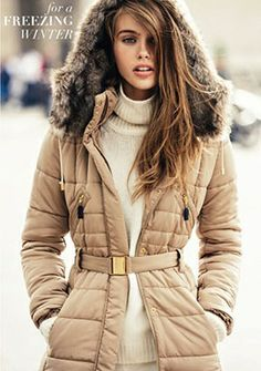 For a freezing winter: puffer coat!