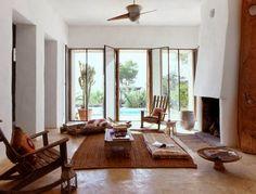 casa rústica con suelo de microcemento
