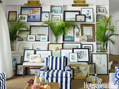 Overlapping pictures. Design: Amanda Lindroth. housebeautiful.com #photos