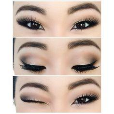 """10 ลุค """"สโมกี้อายเบาๆ"""" สไตล์สาวเอเชีย..แต่งง่าย เดินถนนได้ ❤ liked on Polyvore featuring beauty products, makeup, eye makeup, eyes, beauty and eye make-up"""