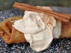 These warm, cinnamon apples in a crispy, fried tortilla are my families favorite apple dessert. Top them off with this Carmel Whipped Cream.