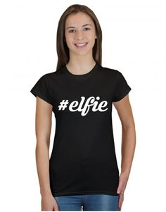 #elfie - take an 'elfie in this awesome Christmas t-shirt design  - get yours now at www.firetrend.co.uk. #christmas #xmas #elfie #selfie #firetrend #christmasselfie #christmastshirt Mens Christmas T Shirts, Christmas T Shirt Design, Christmas Jumpers, Jumper Designs, Shirt Designs, College Fashion, Neck T Shirt, Xmas, Selfie
