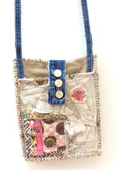 Handmade Crossbody Artsy Bag Upcycled Collaged от itzaChicThing