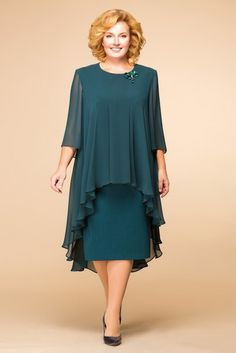 Plus Green Work Dresses Dark Green Elegant Polyester Round Neckline Shift Dress Spring Midi Floral Fall Sleeves XL XXL Dress Simple Dresses, Plus Size Dresses, Elegant Dresses, Elegant Clothing, Fitted Dresses, Wrap Dresses, Midi Dresses, Tulle Dress, Vintage Clothing