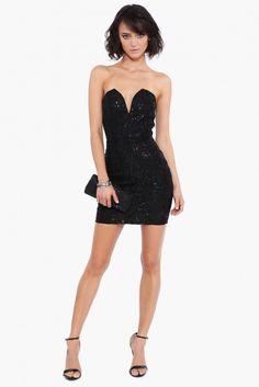 Dark Heart Mini Dress in Black | Necessary Clothing