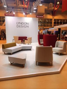 From Twitter: The Lyndon Design Stand. Products launched at 100% included: Maya and the Mrs Sofa. We also highlighted new additions to the Entente range, with the single seat booth and the Us modular collection.