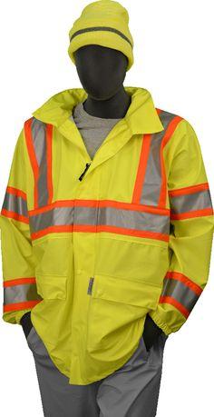 02212f634c15 Safety Jacket Majestic 75-7301 CL3 Hi Vis Yellow Rain Jacket