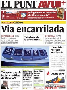 Los Titulares y Portadas de Noticias Destacadas Españolas del 5 de Septiembre de 2013 del Diario El Punt Avui ¿Que le pareció esta Portada de este Diario Español?