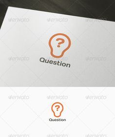 Question - Logo Design Template Vector #logotype Download it here: http://graphicriver.net/item/question-logo/1026004?s_rank=1709?ref=nexion