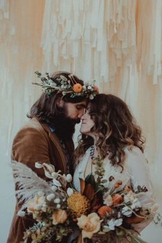 We love this boho hippie shot of this amazing couple! We love a groom who can rock a flower crown. 😊
