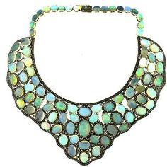 245Ct Opal 18.40 Ct Diamond Statement Necklace : Lot 2398