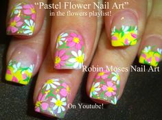 "Robin Moses Nail Art: ""flower nails"" ""black and white flowers ..."