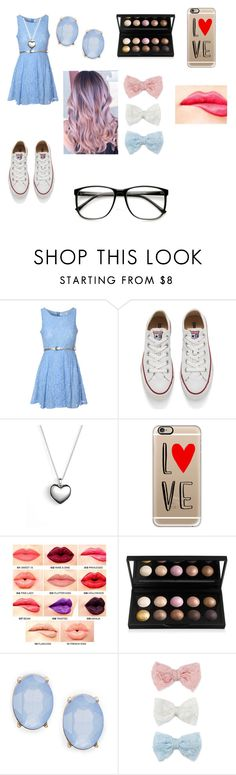 """""""Untitled #102"""" by okay-llama ❤ liked on Polyvore featuring Glamorous, Converse, Pandora, Casetify, NYX, Cara, Decree, women's clothing, women and female"""