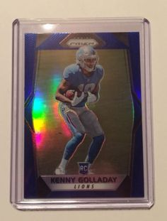 2017 PRIZM BLUE PRIZMS SUPER RARE SSP /5 OR LESS 1/1? KENNY GOLLADAY RC LIONS! please retweet