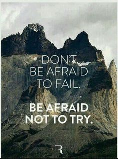 Don't be afraid. Quote