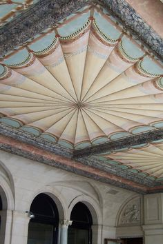 The Breakers ceiling on the back patio. Newport, RI