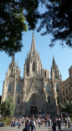 Cathedraal, Barcelona, spanje