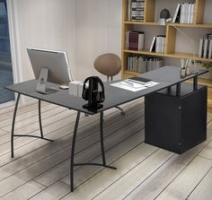 L Shaped Desk Option (as Shown In Pic, The Short Side Would Be Flush