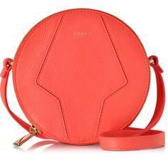 Furla Perla Round Mini Crossbody Bag (17.550 RUB) ❤ liked on Polyvore featuring bags, handbags, shoulder bags, carteras, bolsas, neon orange, handbag purse, crossbody shoulder bags, purse crossbody and shoulder handbags