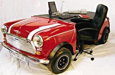 18 Unique Pieces of Furniture. I love mini coopers! I'd need this in green though