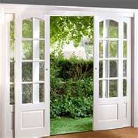 exterior french doors that slide - would be great for our back porch when we remodel
