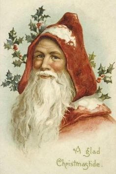 Father Christmas Santa Claus 80 Holiday Counted Cross Stitch or Counted Needlepoint Pattern Images Vintage, Vintage Christmas Images, Old Fashioned Christmas, Christmas Past, Victorian Christmas, Father Christmas, Vintage Holiday, Christmas Pictures, Christmas Greetings