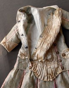 """Fab Dress Costume Silk Brocade for 24"""" 26"""" Antique French BEBE Bisque Doll 