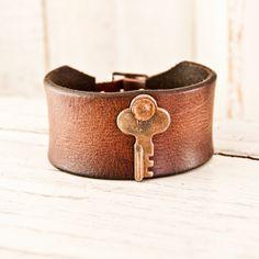 Leather Buckle Cuff Men's Bracelet by rainwheel, $55.00