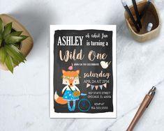 Wild One Printable Invite, Boho Wild and One Invitation, Girl 1st Birthday Printable Invite,  Boho Wild and One Birthday, Tribal Kids Party
