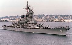 USS New Jersey (BB-62) - Corazzata classe Iowa - Entrata in servizio23 maggio 1943  Disarmo30 giugno 1948 StatoNave museo Onori di battaglia19 battle star Caratteristiche generali Dislocamento45 000 t Lunghezza270,54 m Larghezza33 m Pescaggio8,8 m PropulsioneVapore: 8 caldaie Babcock & Wilcox 4 turbine meccaniche 4 eliche Potenza: 212000 cv Velocità33 nodi  (61 km/h) Autonomia9.600 miglia a 25 n5 nodi 16.600 miglia a 15 nodi Equipaggio1921