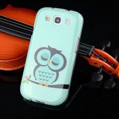 "For Samsung S3 Case Cartoon Owl Tower TPU Soft Coque For Samsung Galaxy S3 Case SIII I9300 4.8"" Phone Silicone Back Cover Capa"