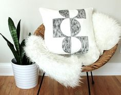 This item is unavailable Sewing Pillows, Abstract Watercolor, Hand Sewing, Hand Painted, Throw Pillows, Blanket, Trending Outfits, Bed, Unique