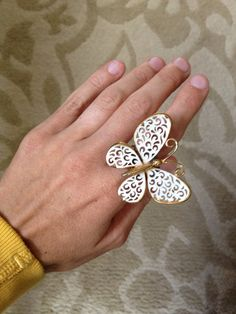 Repurposed Vintage Cocktail Wedding Butterfly by ZiLLAsQuEeN, $22.00