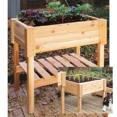 """Raised Garden Planter... 24""""x24""""x24"""",  Western cedar is a natural insect and weather resistant wood that will weather to a lovely silver gray. Easy DIY project."""
