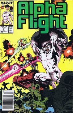 Alpha Flight #51 - first jim lee comic. i think i have this somewhere…