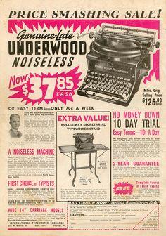 Underwood Noiseless typewriter
