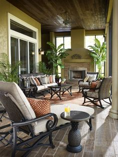 Create this look in your own backyard.  Here are 5 Tips for Furnishing and Designing an Outdoor Living Space.