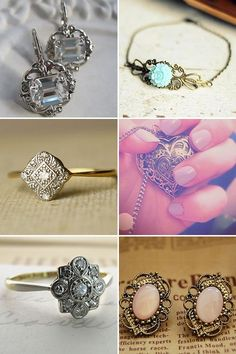 my goodness, the most beautiful earings top left and the perfect ring middle left