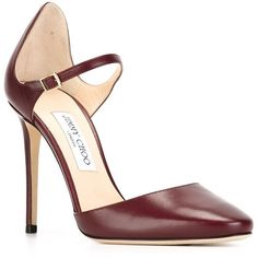 Jimmy Choo 'Marny' pumps ($745) ❤ liked on Polyvore featuring shoes, pumps, jimmy choo, jimmy choo shoes, leather pumps, leather shoes and leather footwear