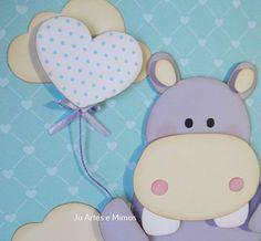hipopotamo em scrapbook