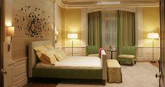 Gossip Girl Green and yellow Bedroom