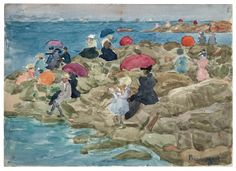 """""""Rocky Point"""" by Maurice Brazil Prendergast  ca. 1896-1897at Williams College Museum of Art."""