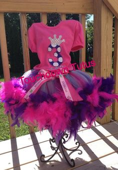 Princess+birthday+outfit++pick+your+number+by+TouchdownTutus,+$52.00