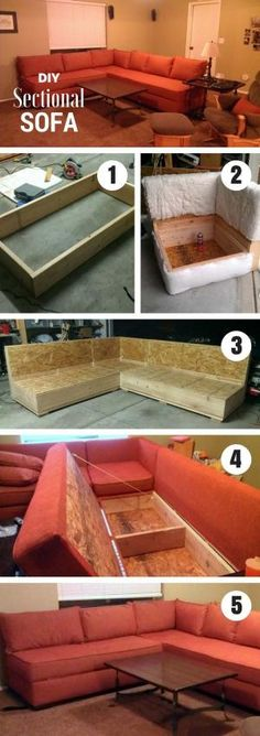 how to build a sectional sofa from scratch