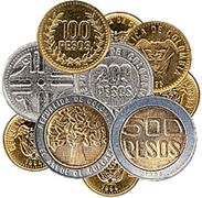 Currency- The currency in Colombia, S. The symbol for the peso is COP.