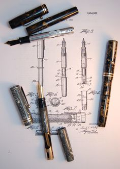 LeBoeuf fountain pens thumb filler system and patent