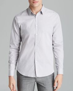 Theory Zach Ps Keyport Button Down Shirt - Slim Fit