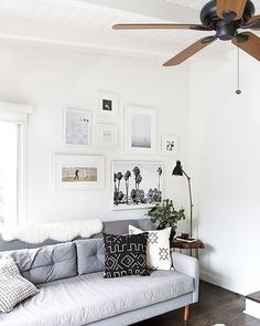 #Ceilingfans in the living room are a great way to add character to your space.  #themeoftheweek #ESTipOfTheDay #ceilingdecor