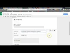 Google Forms 2014- Introduction - YouTube