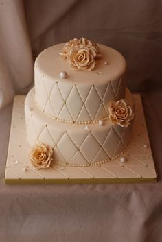 50th Wedding Anniversary cake by Andrea's SweetCakes, via Flickr